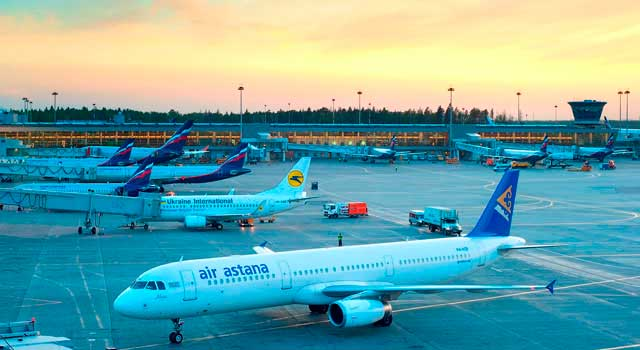 The airport is located 29 kilometres northwest of Moscow.